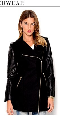 PIKO1988 Faux Leather Sleeves Jacket