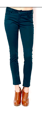 Ci Sono High-Waisted Solid Color Skinny Jeans