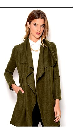 PIKO1988 Asymmetrical Wool Coat