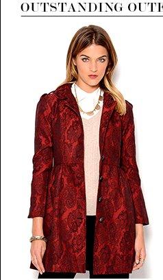 PIKO1988 Jacquard Button-Up Coat