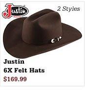 Justin 6X Felt Hats on Sale