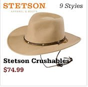 Stetson Crushables on Sale
