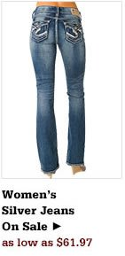 Womens Silver Jeans on Sale