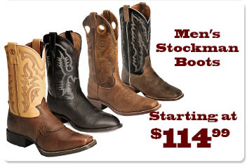 Mens Stockman Boots on Sale