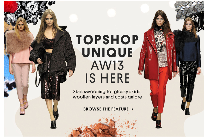 TOPSHOP Unique AW13 is here - Browse the feature