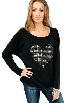 CYBER LOVE RAGLAN TERRY TOP 35