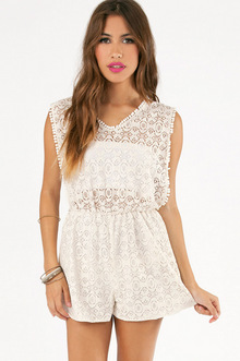 FALL FROM LACE ROMPER 37