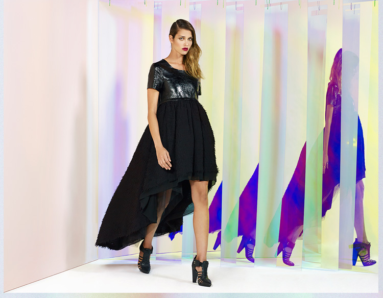 Nasty Gal Collection - Flutter Effect Leather Dress