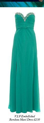 V.I.P Embellished Bandeau Maxi Dress