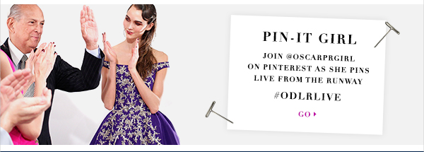 Join OscarPRGirl on Pinterest  as she pins live from the runway