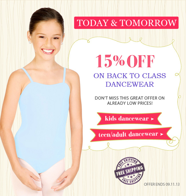 15% Off Back to Class Dancewear