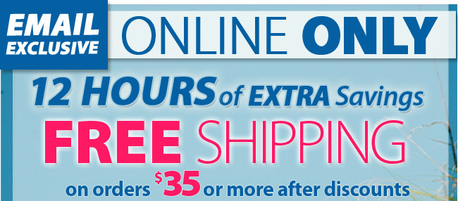 Email Exclusive - save 20% + Free Shipping on orders of $35 or more