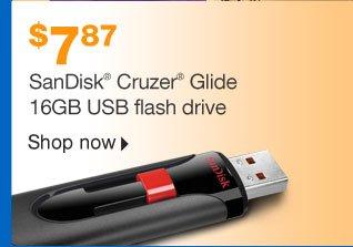 SanDisk  Cruzer Glide 16GB USB Flash Drive. $7.87. Shop now
