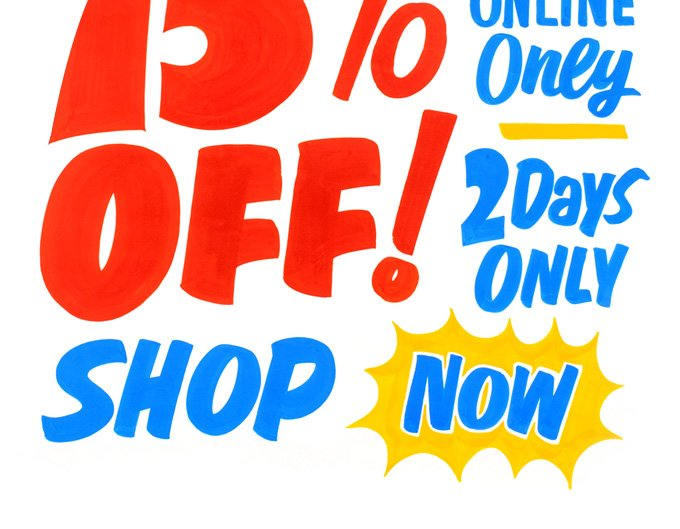 ONLINE ONLY. 2 DAYS ONLY. SHOP NOW.