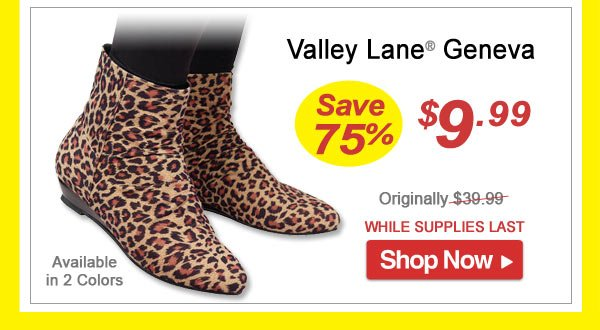 Valley Lane® Geneva - Save 75% - Now Only $9.99 Limited Time Offer