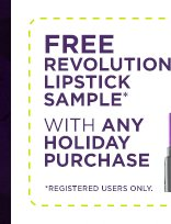 Free Revolution Lipstick Sample With Any Holiday Purchase