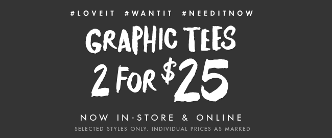 Cotton On Loves 2 for $25 Graphic Tees!