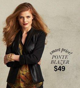 Smart Price! Ponte Blazer - $49