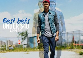 Shop Best Bets Under $40: Apparel