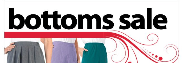 bottoms sale - as low as $4.99 - shop now