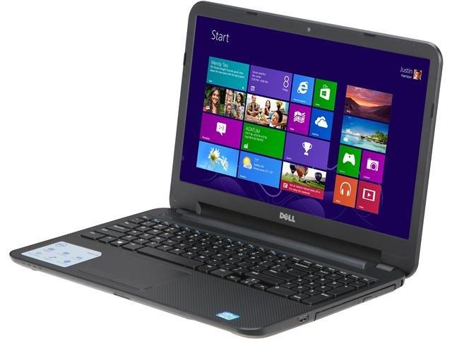 DELL Inspiron i15RV-3763BLK Intel Core i3 3227U(1.90GHz) 4GB Memory 500GB HDD 15.6 inch Notebook Windows 8