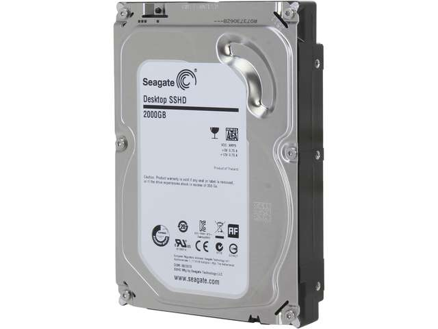 Seagate ST2000DX001 2TB MLC/8GB 7200 RPM 64MB Cache SATA 6.0Gb/s NCQ 3.5 inch Desktop Solid State Hybrid Drive