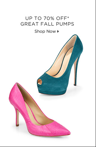Up To 70% Off* Great Fall Pumps