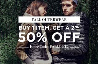 Outerwear Buy 1, Get 1 50% Off