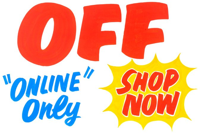 OFF. ONLINE Only. SHOP NOW.