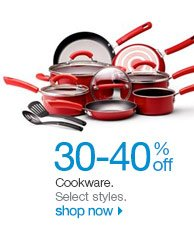 30-40% off Cookware. Select styles. Shop now