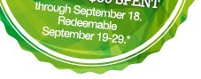 Redeemable September 19-29!