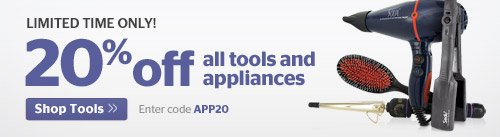 20% Off All Tools and Appliances