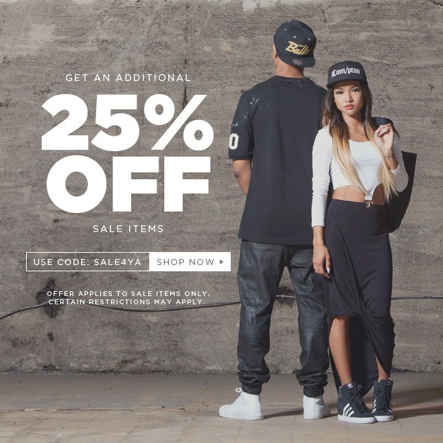 Save and Additional 25% on Sale Items