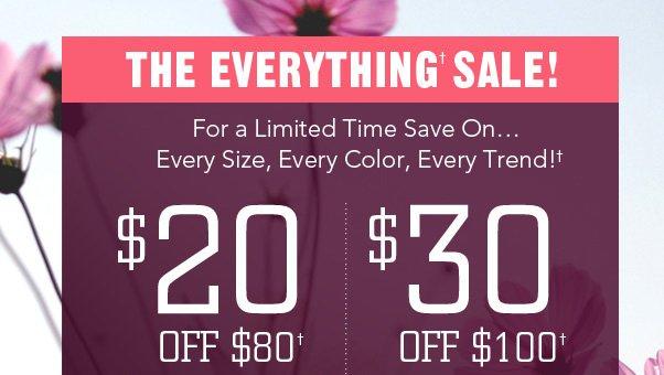 Design A Deal: $20 Off $80 & $30 Off $100!