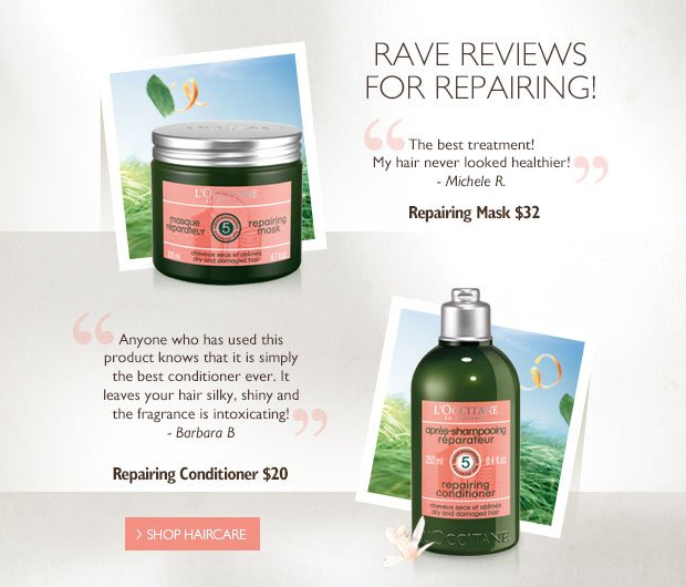 Rave Reviews for Repairing. Shop Haircare