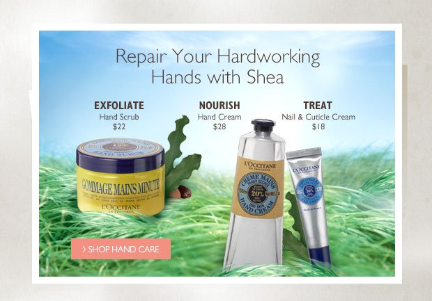 Repair Your Hardworking Hands with Shea. Shop Hand Care