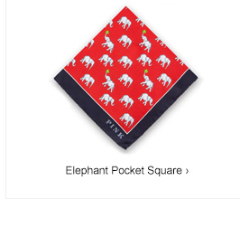 Elephant Pocket Square
