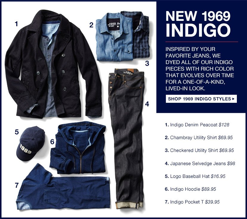 NEW 1969 INDIGO | SHOP 1969 INDIGO STYLES