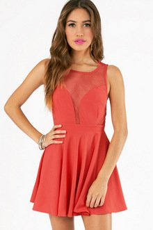 OUT THE CUTS SKATER DRESS 35