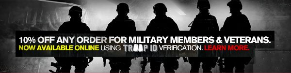 10% OFF ANY ORDER FOR MILITARY MEMBERS & VETERANS.