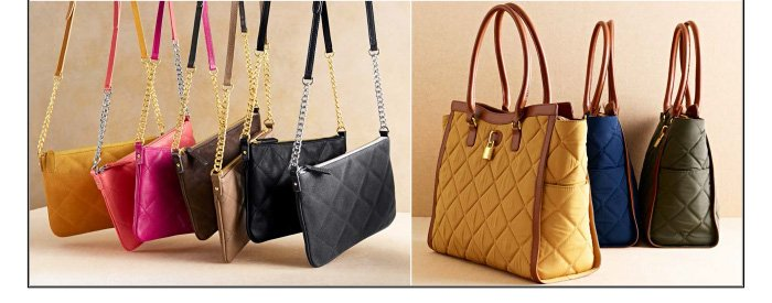 Quilted accessories. Shop now.