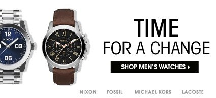 TIME FOR A CHANGE. SHOP MEN´S WATCHES