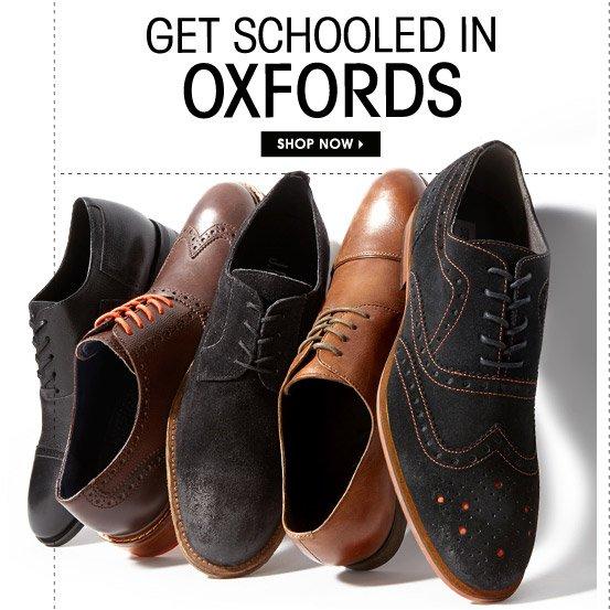 GET SCHOOLED IN OXFORDS. SHOP NOW