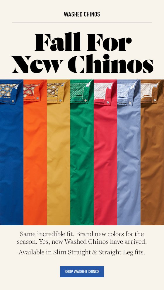 New Washed Chino Colors
