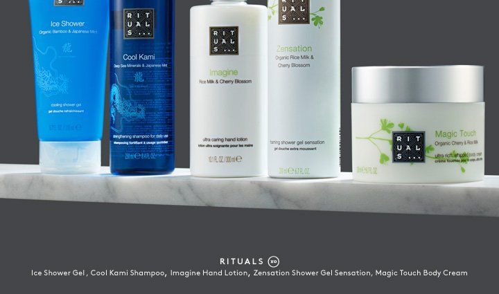 Take care of yourself with the new Rituals bath collection.