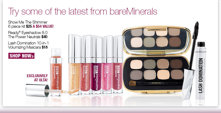 Try some of the latestes from bareMinerals. SHOP NOW