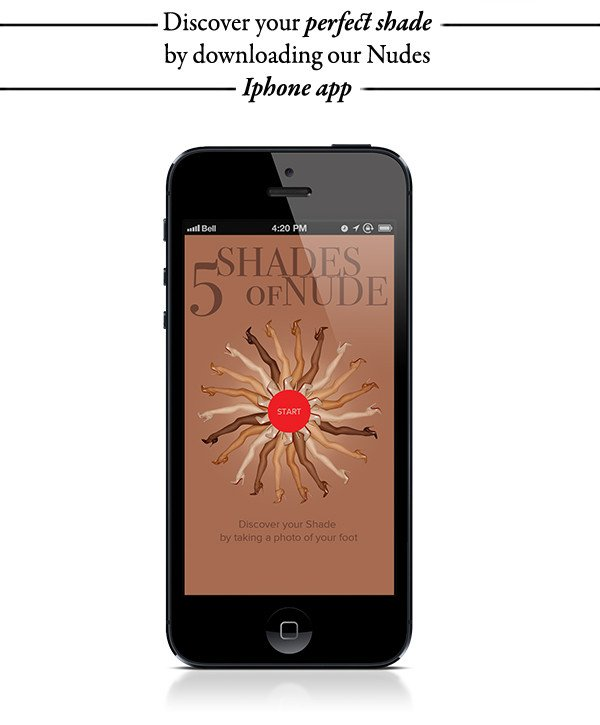 Discover perfect shade with our iPhone App