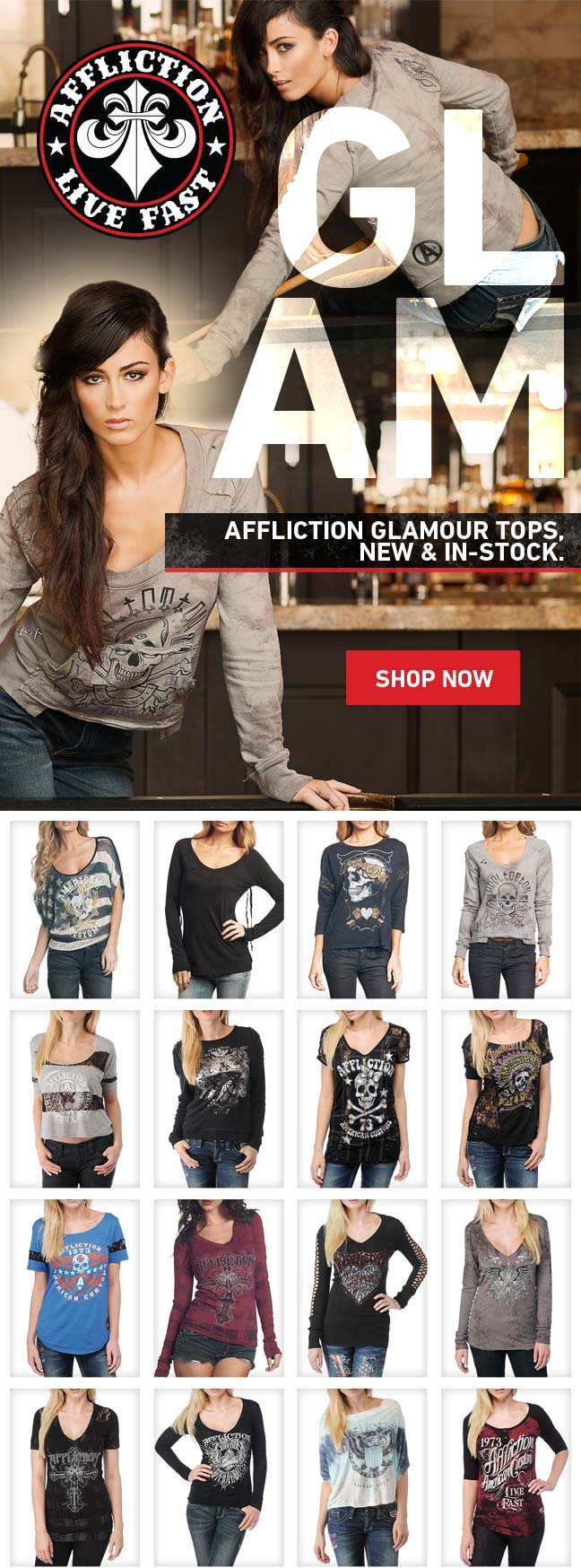 Women's Glamour New + Back in Stock