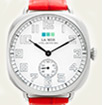 Red-Silver Vintage Oversize Watch