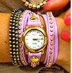 Lavender Gold Bali Wrap Watch